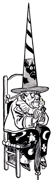 Not Dorothy, but wicked none-the-less. The Wicked Witch of the West as drawn by W. W. Denslow for The Wonderful Wizard of Oz.