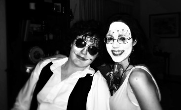 Me and the boy dressed for the voodoo-zombie-mexican sugar scull birthday party from the bayou. My friends are awesome.