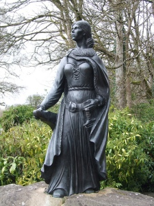Statue of Grace O'Malley in the Westport House grounds
